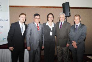 Dr. Wilton, Dr. Fábio, Dra. Raquel, Dr. Wilson e Dr. André