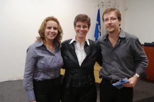 Cleide, Isabel e Dr. Wilton